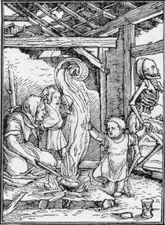 Danza Macabra, (Totentantz, Hans Holbein, 1538): il bambino