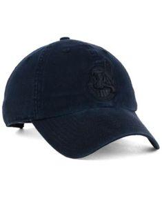 ed2055cba '47 Brand Cleveland Indians Black on Black Clean Up Cap - Black Adjustable  Cleveland Indians