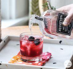 Blackberry Gin Lemonade   Inspired by Charm #drinksandlinks #aviationcocktail