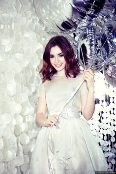 Lily Collins and her beautiful hair.