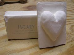 Heart with bar soap