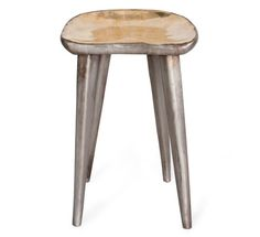 Bar stool. Hand forged bronze stool with Japanese patina finish from Organic Modernism.