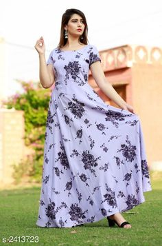 Kurtis & Kurtas Women's Printed Rayon Long Anarkali Kurti Fabric: Rayon  Sleeves: Sleeves Are Included    Size: 38 in 40 in  42 in  44 in  Length: Up To 52 in Type: Stitched Description: It Has 1 Piece Of Women's Kurti Work: Printed Country of Origin: India Sizes Available: 38, 40, 42, 44   Catalog Rating: ★4 (405)  Catalog Name: Women Rayon Flared Printed Orange Kurti CatalogID_323256 C74-SC1001 Code: 645-2413723-7341
