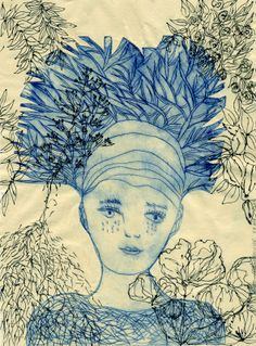 Félicité - gravure et dessin - etching and drawing by Valérie Belmokhtar