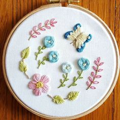 Fun floral embroidery!!