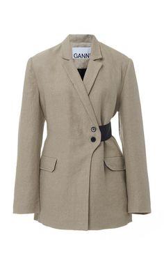 Ganni Linen Two Tone Blazer Suit Fashion, Retro Fashion, Vintage Fashion, Fashion Outfits, Plus Fashion, Womens Fashion, Classy Fashion, Style Fashion, Fashion Tips