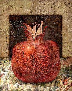 """Red garnet black square"" / via Alexander Sigov Texture Painting, Painting & Drawing, Watercolor Paintings, Modern Art, Contemporary Art, Pomegranate Art, Iranian Art, Guache, Jewish Art"