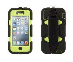 Funda protectora Griffin Survivor para iPhone 5 Negro-verde