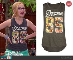 Full Tilt Dreamer 85 Muscle Tank worn by Dove Cameron on Liv and Maddie Tv Show Outfits, Cool Outfits, Fashion Outfits, Emma Style, Her Style, Birthday Smiley, Dove Cameron, First Girl, Classy And Fabulous