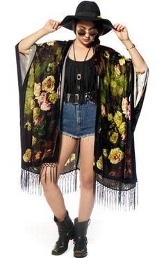 Floral Dream'n Velvet Kimono - Saltwater Gypsy #saltwatergypsy #kimono