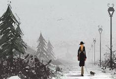 GÖNÜL KUŞU'M Pascal Campion, Winter Walk, List Of Artists, Dreamworks, Snow, Cool Stuff, Digital, Projects, Painting