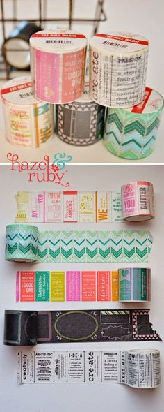 I love how simple these are to make, just choose your favorite washi tape and decorate the top. I chose Hazel and Ruby Handmade  bec...