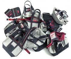 Vintage Selvedge Denim Bags © 2012 Pumukli by Tatiana Goldmannova Denim Bag, Leather Bag, All In One, Fashion Accessories, Shoulder Bag, Handbags, Purses, Stuff To Buy, Shopping