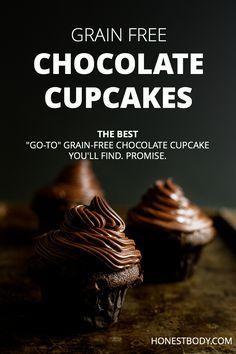 This simple grain-free chocolate cupcake recipe will be your go-to recipe the first time you try them! Perfect for GAPS and grain or gluten-free diets.