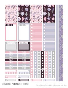Love Purple Free Printable Planner stickers for the classic size Happy Planner. Includes 2 full pages of planner stickers. To Do Planner, Free Planner, Planner Pages, Happy Planner, 2015 Planner, Planner Diy, Blog Planner, Budget Planner, Washi