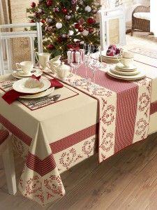 linge de maison de noel original coeur set de table