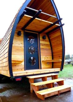 10 Cool Tiny Houses on Wheels >> http://www.frontdoor.com/photos/10-cool-tiny-houses-on-wheels?soc=pinterest