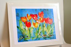 Tulips in Watercolor by lauratrevey on Etsy
