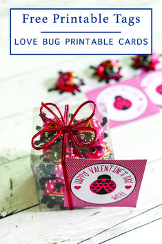 Download these darling printable love bug tags for Valentine's Day this year from Everyday Party Magazine #Valentine #KidsValentine #LoveBug