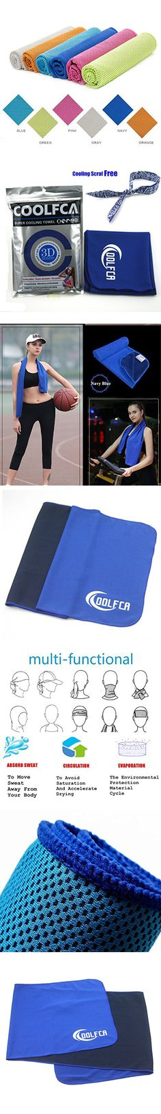 40 12 Snap Cooling Towel Summer Ice Cooling Sweat Sports Towel Stay Cool for BowlingGym, Yoga, Pilates, Travel, Camping Fitness Sports Outdoors And Free Of Charge One Cooling Scarf (blue)