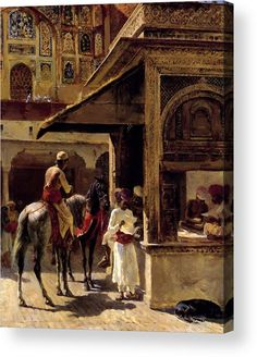 Street Scene In India Painting by Edwin Lord Weeks Reproduction Indian Paintings, Islamic Paintings, Arabian Nights, Islamic Art, Indian Art, American Artists, Art Museum, Book Art, Oriental