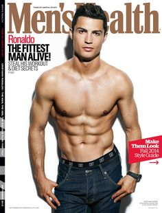 Cristiano Ronaldo for Men's Health Cristiano Ronaldo Shirtless, Shirtless Men, Cristino Ronaldo, Ronaldo Juventus, Mens And Health, Fitness Magazine, Athletic Men, Real Madrid, Soccer Players