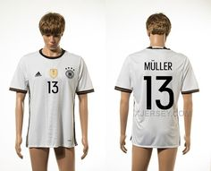 http://www.xjersey.com/germany-13-muller-home-euro-2016-thailand-jersey.html GERMANY 13 MULLER HOME EURO 2016 THAILAND JERSEY Only $35.00 , Free Shipping!