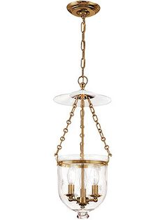 Hampton Bell Jar Hall Pendant With Etched Star Pattern 23 inches