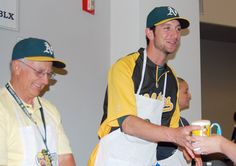 Jerry Blevins at 13th Annual A's MUG Root Beer Float Day on June 20, 2012 (Jeff Bennett/Oakland Athletics)