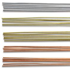 "Amaco WireForm Soft Metal Rods - BLICK art materials - soft metal rods are great for use as craft armatures or to accent jewelry, scrapbooks, and other craft projects. They can easily coil, twist, or bend to the desired shape. The thin rods measure 1 mm in diameter. The medium rods are 2 mm in diameter.  Tubes of six 12"" rods per package."