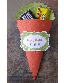 Stampin With Sue: LNS Challenge (3-D Carrot Treat Holder)