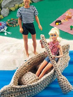 barbie crochet canoe