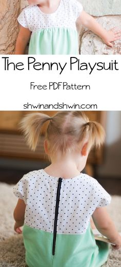 Penny Playsuit: free pdf pattern
