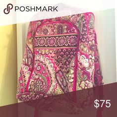 Vera Bradley Tech Backpack Perfect backpack for school or work! Plenty of pockets and a laptop compartment. Barely used and in excellent condition! Vera Bradley Bags Backpacks