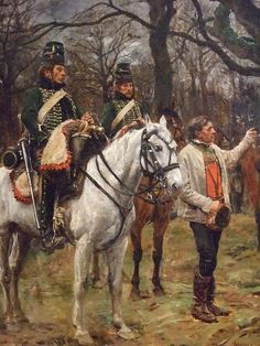 Information (General Desaix and the Peasant) by Jean-Louis-Ernest Meissonier1867 Oil on panel(2)