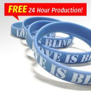 #Printed #Wristbands are the cheaper and quicker alternative to Ink Injected bands without compromising the fun of having your text stand out! We are currently having a 'Free 24 Hour Production' promo, but it wont last long SO DON'T WAIT!