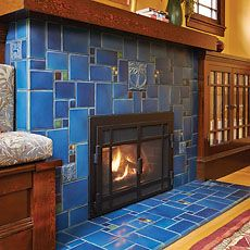 Motawi Tileworks (including historic design templates for tile fireplaces)