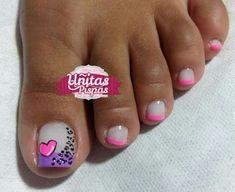 Pretty Pedicures, Pretty Toe Nails, Cute Toe Nails, Pretty Toes, Pedicure Designs, Pedicure Nail Art, Toe Nail Designs, Toe Nail Art, Wonder Nails