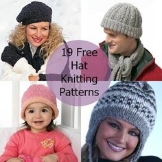 Keep warm in the chilly months with one of these 19 Free Hat Knitting Patterns. Save money on winter accessories and take up a relaxing hobby with this collection of free hat knitting patterns. You'll never need to buy a hat ever again.