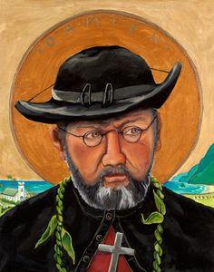 """""""Father Damien"""" of Moloka'i Portrait by Anna Fuernsteiner"""