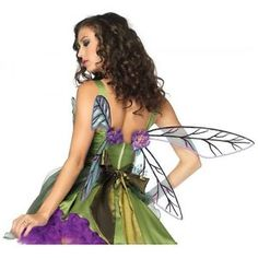 Strapless-Woodland-Sprite-Costume-Wings-Adult-Teen-Dragonfly-Fairy-Halloween
