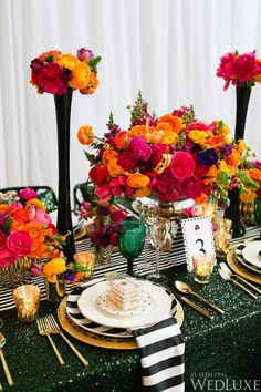 Inspired by All Things Kate Spade - WedLuxe Magazine Wedding Centerpieces, Wedding Table, Wedding Decorations, Wedding Colors, Wedding Styles, Wedding Flowers, Kate Spade Party, Deco Floral, Mexican Party