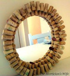 wine cork mirror cool-crafts