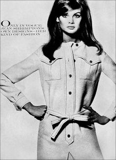 Jean Shrimpton by David Bailey for Vogue, 1965