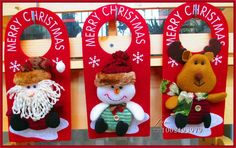 Enfeites para casa casamento decoração enforcamentos porta boneco de neve papai noel Navidad Adornos de S167 em Decoração de natal de Casa & jardim no AliExpress.com | Alibaba Group