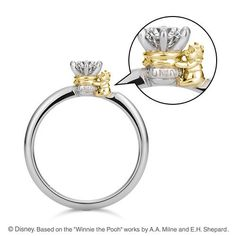 Uno sweet honey ring disney rings, disney jewelry, disney engagement, my Disney Rings, Disney Jewelry, Cute Jewelry, Jewelry Accessories, Unique Jewelry, Fashion Accessories, Disney Engagement, Engagement Rings, Skull Fashion