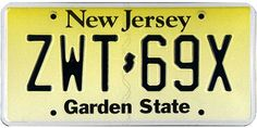 This is the official license plate for the state of New Jersey as it has been officially adopted by the state legislature. Also known as a vehicle registration plate, it is used to identify the car and owner of a motor vehicle or trailer in the state.