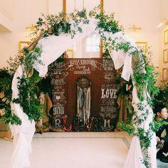 結婚式では、仲良しの友人たちとの写真撮影もゲストの楽しみの1つ。ステキなフォトブースがあれば、みんなが大喜びして盛り上がりそう♪