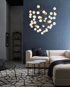 The Mara LED Chandelier is a modern interpretation of a classic multi-arm chandelier, but rarely does a fixture provide such dramatic impact. Available in Satin Nickel or Aged Brass finish with frosted glass globes in a 25 and 45 light option. 25 Light: Includes twenty-five 2.6 watt, 120 volt LED modules, 2700K color temperature, 90CRI, 1675 total delivered lumens. 28.8 inch width x 18.8 inch height x 78.8 inch overall length. 45 Light: Includes forty-five 2.6 watt, 120 volt LED modules…