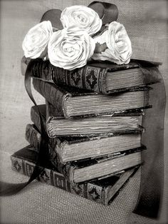 Studio Swede 13...French Country Photography, Black and White, Fine Art, Vintage Books, Shabby, Old Books, Rustic, Farmhouse, Home Decor, Still Life
